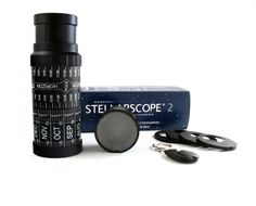 "This classic hand-held Stellarscope helps users locate and identify up to 1500 stars and 70 constellations around the world.  It can be used anywhere between 20� and 60� North or South Latitude with its 3 interchangeable adapters. Lightweight and portable, it's easy to taken trips or hikes.  A thoughtful gift for the budding astronomer or the star gazers.   Dimensions: 2.5"" D x 6"" H.    Recommended for Ages 10 and up.   Made in France. Designed by Bernard Vuarnesson."