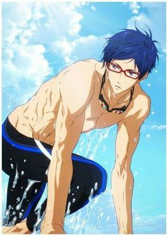 Rei looking hot af Chica Anime Manga, Manga Boy, Anime Guys, Anime Art, Hot Anime, Destiel, Nagisa Free, Rei Ryugazaki, Rei Free