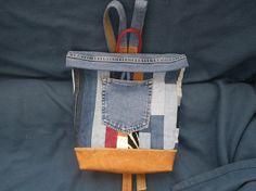 UPCYCLED DENIM PATCHWORK  backpack