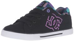 DC CHELSEA CHARM SKATE SHOES SNEAKERS SKATEBOARDING BLACK//TURQ SIZE 12 YOUTH