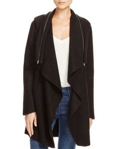 BB DAKOTA Hooded Draped Jacket | Bloomingdale's