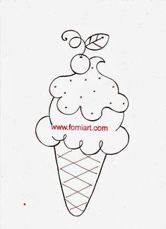 Patrones Gratis de Helados en cinco sabores en foamy - Fomiart Summer Cookies, Pencil Toppers, Candy Bouquet, Shopkins, Doodle Art, Painted Rocks, Emoji, Coloring Pages, Patches