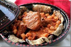 Mderbel: Algerian Lamb and Eggplant Tagine / Mderbel aubergine cuisine algerienne via Les Joyaux de Sheherazade