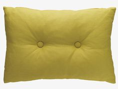 BARINGTON Yellow linen cushion 40 x 60cm