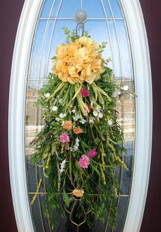 Spring Wreath Summer Wreath Easter Mother's by AnExtraordinaryGift