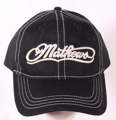 87b534c8983 Mathews Archery Ball Cap Trucker Hat Adjustable Black 100% Cotton  Mathews   BaseballCap