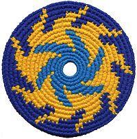 PhD Pocket Disc Crocheted Frisbee Disc Soft Flying Disc