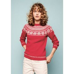Tine Milk Sweater - Free PDF Knitting Pattern (English), Tine Melkegenser - free PDF knitting pattern (Norwegian) - Sandnes Dame booklets and recipes - Aunt Hanne. Knitting Patterns, Free Knitting, Ravelry, Christmas Sweaters, Graphic Sweatshirt, Pullover, Sweatshirts, Blog, English English
