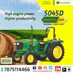 John Deere 5045D-PowerPro ✔️HP: 46HP ✔️No. of cylinder: 3 Cylinder ✔️Gear Box Type: 8 Forward + 4 Reverse पूरी जानकारी मिलेगी यहाँ ➡️ #KhetiGaadi #JohnDeere #BuyTractor #TractorPrice