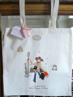 Cabas Tote bag en coton bio écru  design original par unpetitairde, €15,00
