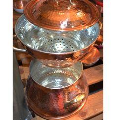Marmite, Copper Pots, Hammered Copper, Couscous, Kitchen Aid Mixer, Kitchen Tools, Revere Ware, Steamer Recipes, Valeur Nutritive