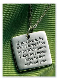 """Winnie The Pooh Friendship Necklace    If you live to be 100, I hope I live to be 100 minus 1 day, so I never have to live without you. Winnie the Pooh, the source of much wisdom, once said these words to Piglet. Pendant is engraved on one side with the sentiment, on the other with """"Winnie the Pooh."""""""