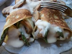 This classic chicken crepes recipe is elegant yet hearty enough to satisfy the appetite of the hungriest of your guests.  Featuring the famous white or bechamel sauce, this dish will also become one of your favorite recipes for asparagus.