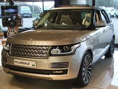 The All-New Range Rover in the showroom at Hillendale,Nelson