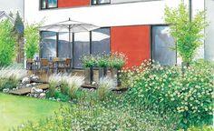 Gartenideen für einen modernen Neubau