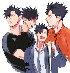 Haikyuu Nekoma, Kuroo Tetsurou, Haikyuu Fanart, Kenma, Kageyama, Haikyuu Anime, One Punch Man, Noragami, Anime Guys