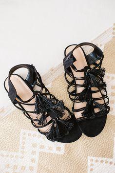 LC Lauren Conrad Tassel Sandals  a546f7a258a