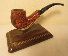 Vintage Kaywoodie Red Root Bent Billiard Red Sandblast Estate Briar Tobacco Pipe