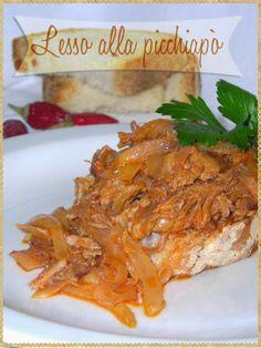 Lesso alla picchiapò  (Beef with Tomato and Onion, Roman cuisine) #Meat