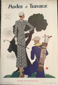 Modes & Travaux magazine 15 Feb 1933 Lady Golfer Cover
