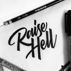 We're raisin hell like a class when the lunchbell rings. Type by @tolbest - #typegang - free fonts at typegang.com | typegang.com #typegang #typography