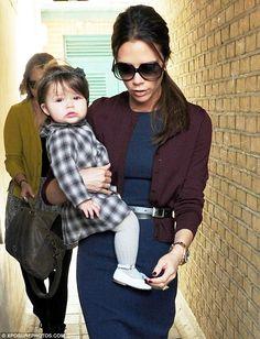 Harper Beckham Baby Style #victoriabeckham