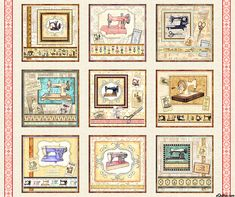 Quilting Treasures Fabrics Tailor Made Dan Morris Large Sewing Machine Picture Patches Panel. Hancocks of Paducah offers a wide selection of Quilt Panel by Quilting Treasures