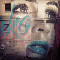 She's done.  @powwowhawaii   @wonder_fresh #powwowhawaii #rone #deadbodyforscale - @r_o_n_e- #graffiti #streetart #oahu #rone #hawaii #kakaako