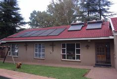 Come and enjoy all the of goodies on this property, it offers you Pre-paid electricity, solar geyser, 2 septic tanks for Tornado shelter. Bachelors flat with shower, basin and toilet. 3 Comfortable size bedrooms tiled with built in cupboards, main bedroom with aircon and walk in closet, en suite bath room with heater and corner bath. 2nd bath room tiled. Charming wooden kitchen with extractor fan, stove and plenty of cupboard space. Laundry separate.  Spacious open plan living area, dining… Solar Geyser, Shower Basin, Built In Braai, Burglar Bars, Corner Bath, Built In Cupboards, Pre Paid, Septic Tank, Room Tiles