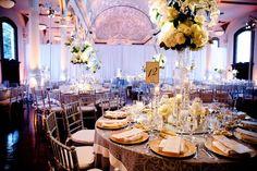 Neutral colors and elegant flower arrangements!