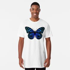 """ Butterfly"" T-shirt by My T Shirt, Large Prints, Tshirt Colors, Female Models, Heather Grey, Classic T Shirts, Butterfly, Fabric, Mens Tops"