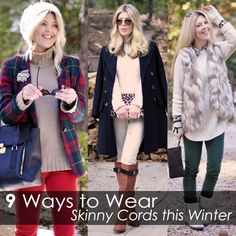 9 Cozy Chic Ways to Wear Skinny Cords this Winter