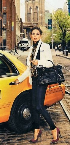 Socialite Olivia Palermo in Editorial wearing Hudson Jeans Nico