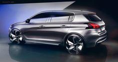 Peugeot_308_facelift_sketches on Behance