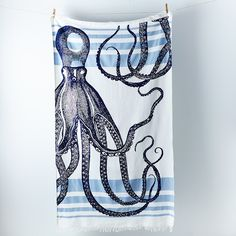 Limited Edition Octopus Banya Towel by thomaspaul: Durable enough to be used at the beach yet pretty enough to be used as a tablecloth or bed throw. #food52