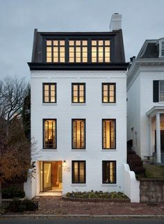 All those large windows...so much light and dreamy....  Rixey-Rixey Architects - Georgetown, DC