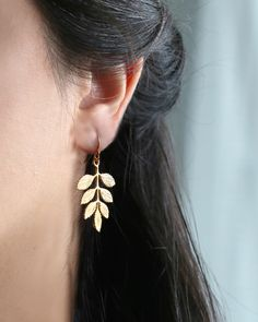 Lakoo Designs is the expert at creating intricate one-of-a-kind jewelry for every kind of woman. These Gold Fern Earrings make a perfect gift for every occasion. Shop these handcrafted pieces and more online at http://www.alangoo.com/lakoodesigns