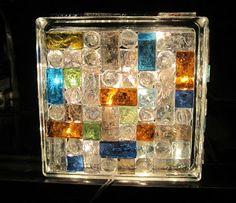 A Rural Journal: Krafty Block Lighted Mosaic Project