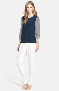Diane von Furstenberg Silk Blouse & Crepe Pants  available at #Nordstrom