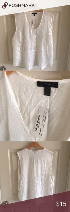 🎈 SALE J.Crew Shimmer Top Knit back, Shimmer front, Loose J. Crew Tops Tank Tops