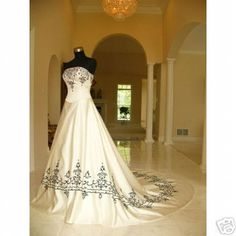black and white wedding dresses | ... Black and White Wedding Dress 9 Stunning Black and White Wedding Dress