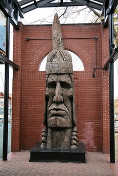 Indian Head, 1975, Wood carving by Peter Toth by cliff1066™, via Flickr