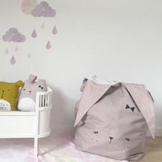 Canvas Storage Bag - Cute Bunny - Fabelab