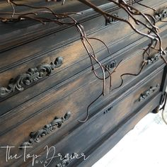 How To Black Wash Furniture - How To Age Furniture You can find Staging and more on our website.How To Black Wash Furniture - How To Age Furniture Upscale Furniture, Weathered Furniture, Upcycled Furniture, Vintage Furniture, Rehabbed Furniture, Distressed Furniture, Furniture Painting Techniques, Chalk Paint Furniture, Redoing Furniture