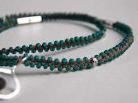 """Fun simple addition to a """"stack"""", with tutorial. Live In Art: Braided Bead Necklace: DIY"""