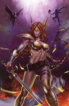 Angela: Asgard's Assassin #2 Cover by Stephanie Hans
