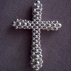 Pattern, Right-Angle Weave Cross w