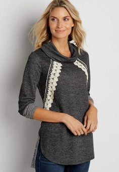 pullover tunic with crochet | maurices