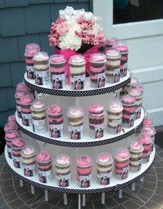 Wedding cake alternative. Purchase the supplies and make your own push pop tower