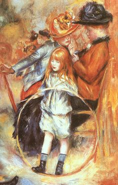 Pierre-Auguste Renoir.  And I thought Art Linkletter was the one who made the hula hoop famous in 1958.